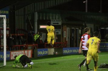 Dernell Wynter (11) celebrates his goal