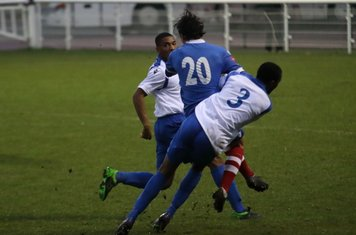 Enfield's Ricky Gabriel (3) challenges Jack Curtis