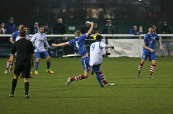 Enfield's Bobby Devyne shoots from distance