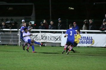 Danny Gay saves from Enfield sub Dernell Wynter