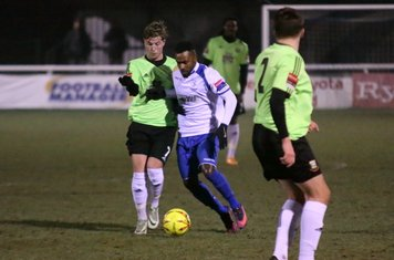 Enfield's Bobby Devyne Challenges by Keagan Cole (L)