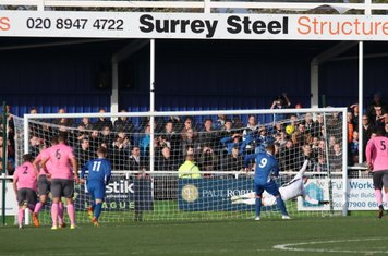 Billericay's Billy Bricknell (9) equalises from the penalty spot