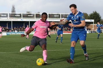 Enfield's Ryan Blake (L) and Billericay's Rob Swaine