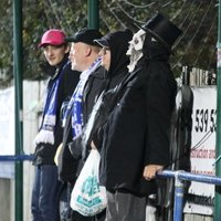 One Enfield fan was determined not to miss his Halloween celebration