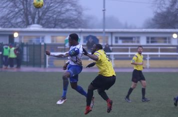 Enfield's Ryan Blake (L) and Kingstonian's Andrew Musungu