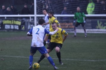 Enfield's Mickey Parcell (2) and Kingstonian's Nic Ciardini