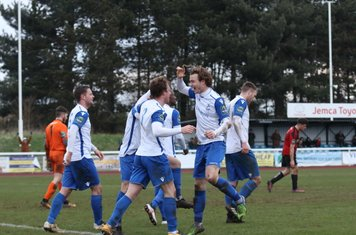 Enfield celebrate the second goal