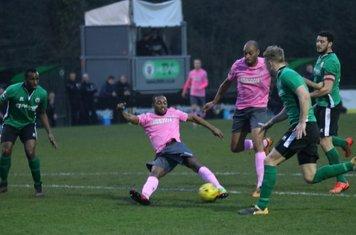 Dernell Wynter puts Enfield 1-0 ahead