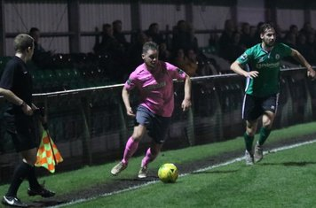Enfield's Liam Hope (L) and Burgess Hill's Tom Cadman