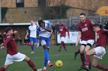 Muhammadu Faal scores the first Enfield goal