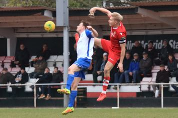 Enfield's Aaron Greene (L) and Hornchurch's Alex Bentley