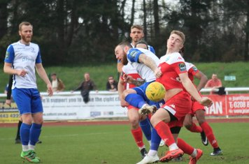 Leatherhead's Charlie Hester-Cook challenges Billy Bricknell