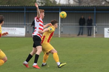 Kingstonian's Alfie Egan (L) and Enfield's Jay Porter