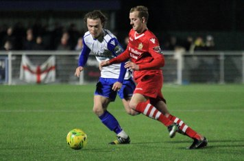 Hornchurch's Ronnie Winn (R) and Enfield's Mickey Parcell