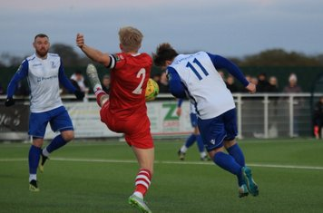 Enfield's Lewis Taaffe (R) challenges Alex Bentley