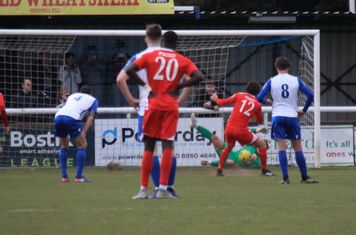 Joe Wright saves a penalty from Harry Ottaway (12)