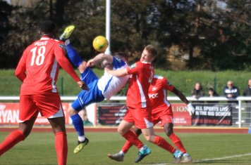 Enfield's Billy Bricknell tries an overhead kick