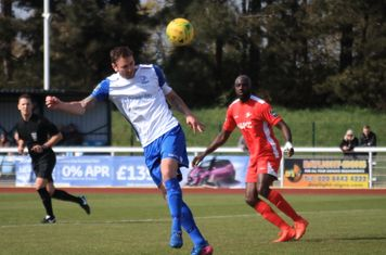 Matt Johnson heads on goal