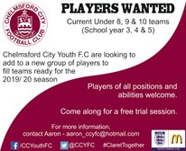Looking for U8, U9 and U10 players for existing and new squads