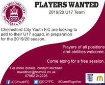 U17 Goalkeeper Wanted