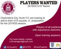 U15 Players Wanted!