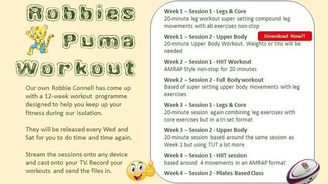 Robbie's Puma Workout