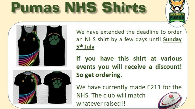 Pumas NHS T-Shirts and Vests.... EXTENDED