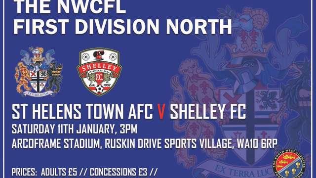 St Helens Town Vs Shelley 11/01/2020