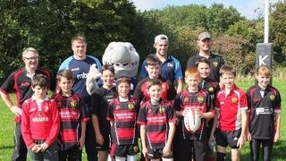 Sharky with the U12s