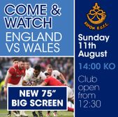 Come and Watch England vs Wales