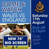 Come and Watch Wales vs England