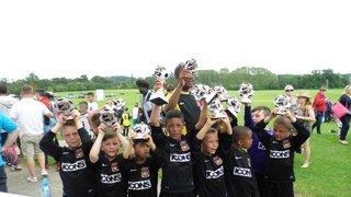 CHAMPIONS OF OADBY OWLS TOURNAMENT UNDER 8S FFA BLACKS