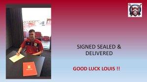 Louis Britton signs