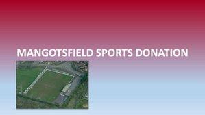 Donation to Football Club