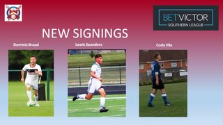 Three new signings