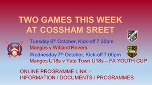 Two Games this week