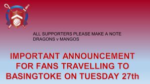 Basingstoke Town (Away) - Tuesday 27th October