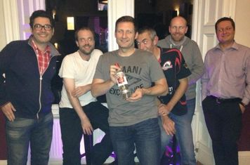 Winning team at the West End Hotel Pub Quiz where you can find the team most Thursdays after training.