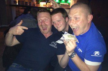 Winning team at the Habana's Pub Quiz which is hosted by the Hot Scots on the first Monday of each month.