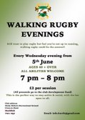 Walking rugby on Wednesday evenings
