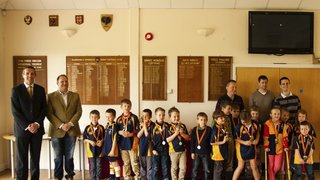 ERRFC Medal Ceremony 27-4-2014 Under 7s and 8s