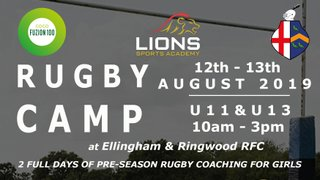 Lions Sports Academy Girls Camp - U11 & U13