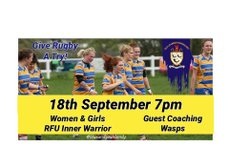 Women's & Girls RFU Inner Warrior Rugby With Wasps