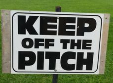 Please keep off Pitches 1 & 2 they have been sanded & seeded