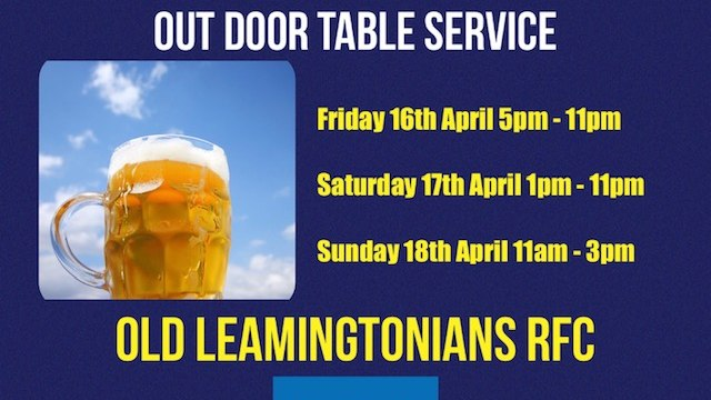 Happy Friday Bars Open @ 5pm (16th April)