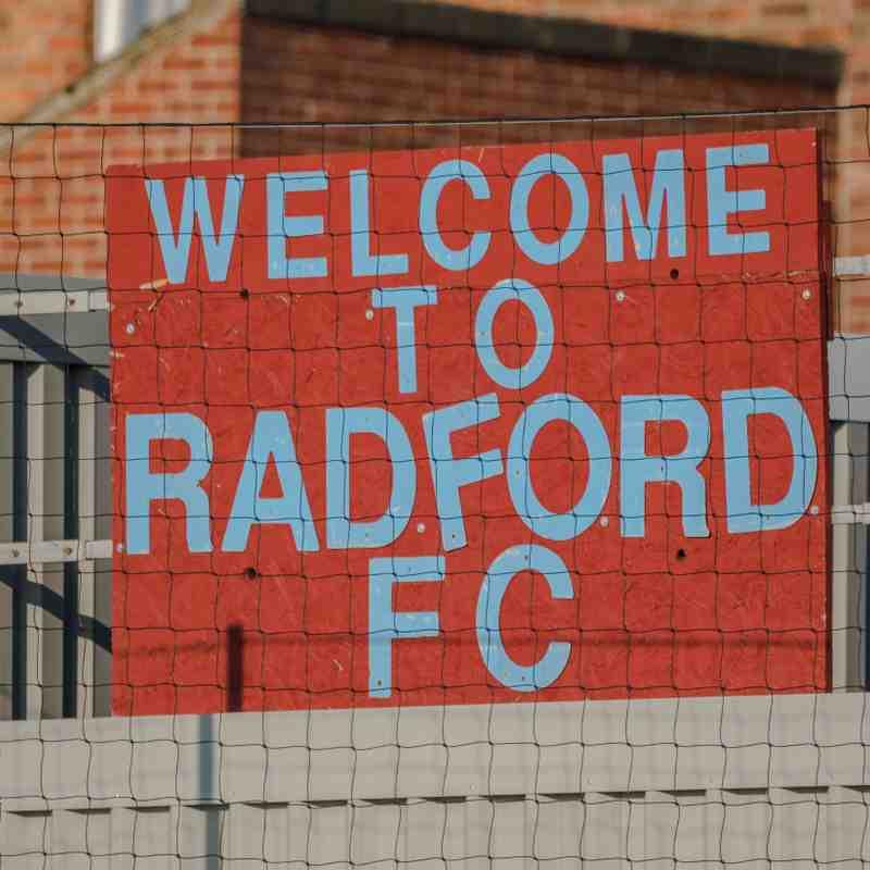 Radford v Belper united  29/9/18