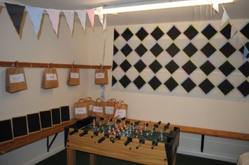 Games room for children in our changing room