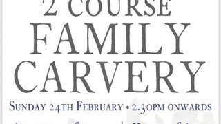 SUNDAY CARVERY FEBRUARY 24TH - BOOKINGS NOW BEING TAKEN
