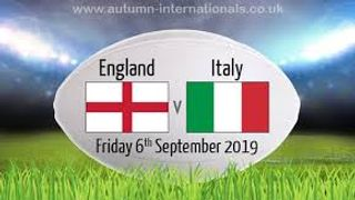 ENGLAND vs ITALY     FRIDAY SEPT 6th