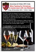 Wines for Christmas; A Masterclass with Joe Wadsack